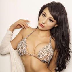 beautiful exotic model brunette