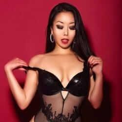 asian girl black lingerie
