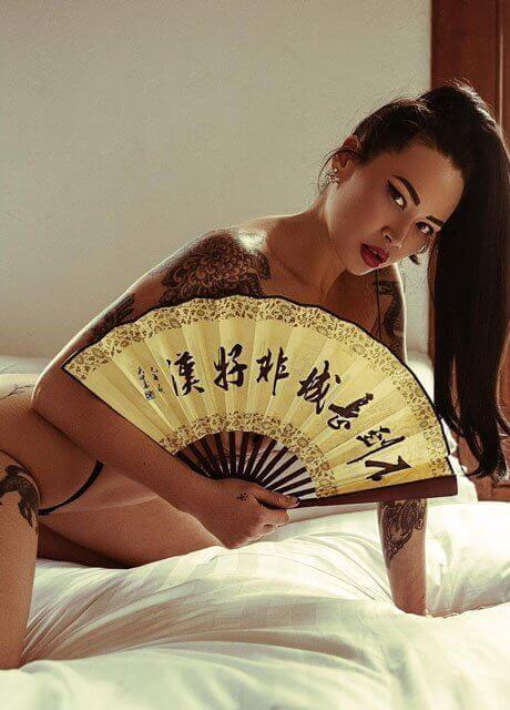 fawn asian waitress5