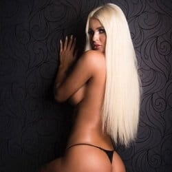 tannned platinum blonde
